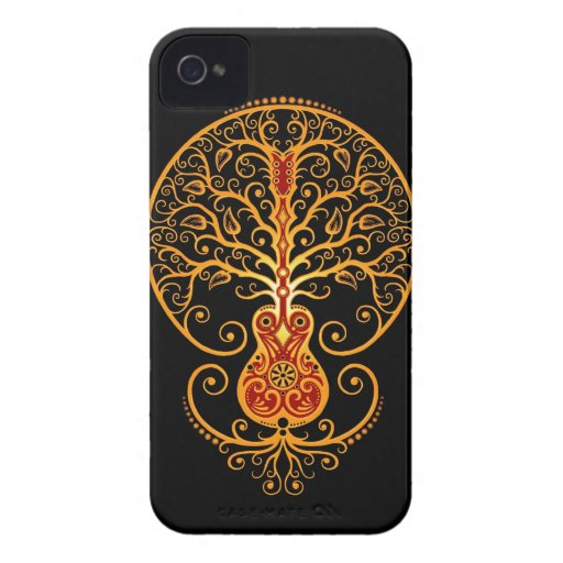 Guitar Tree, Golden Red and Black Blackberry Case