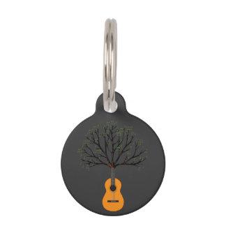 Guitar Tree Pet Name Tag