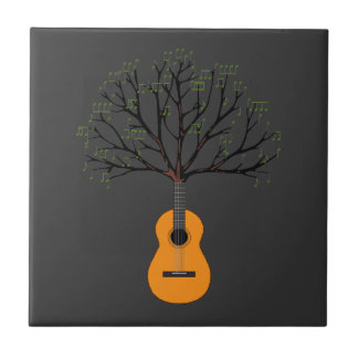 Guitar Tree Small Square Tile