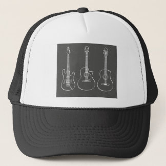 Guitar trio retro grunge music trucker hat