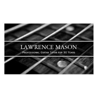 Guitar Tutor Photo of Strings - Business Card