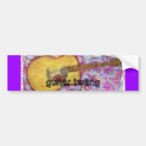 guitar twang Acoustic Guitar Bumper Sticker