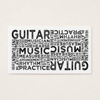 Guitar Typography Business Card