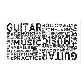 Guitar Typography Pack Of Standard Business Cards
