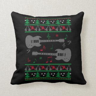 Guitar Ugly Christmas Cushion