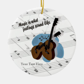 Guitar Version - What Feelings Sound Like Round Ceramic Decoration