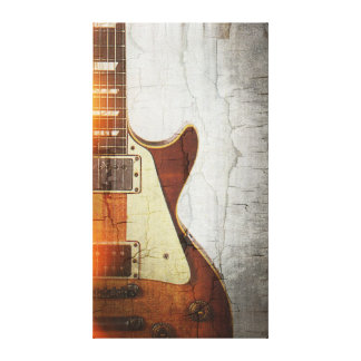 Guitar Vibe 1- Single Cut 59 Canvas Print