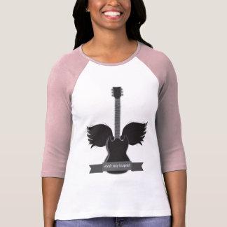 Guitar Wings Ladies Raglan Tshirts