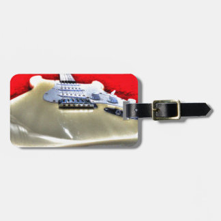 GUITAR WITH ART EFFECTS LUGGAGE TAG