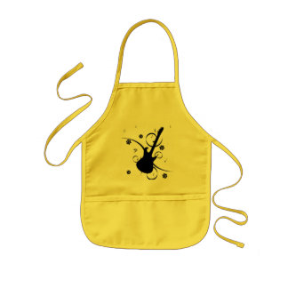 Guitar With Musical Notes Apron