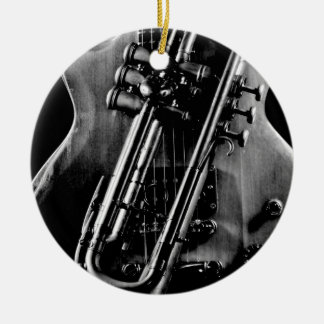 Guitar with Trumpet Christmas Ornament