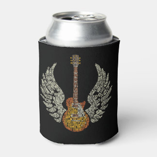 Guitar With Wings Can Cooler