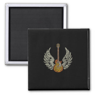 Guitar with wings magnet