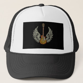 Guitar with wings trucker hat