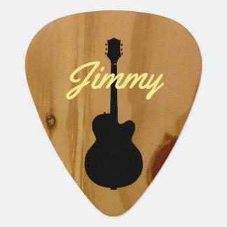 guitar wood handwritten name cool guitar pick