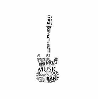 guitar word fill black music image photo cutout