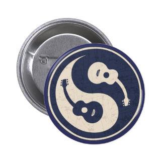 Guitar Yang -blue 6 Cm Round Badge