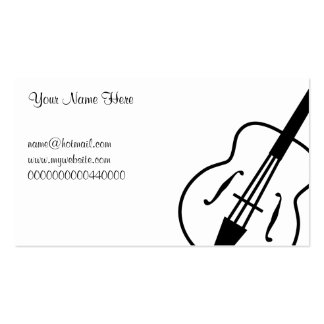Guitar, Your Name Here, Pack Of Standard Business Cards