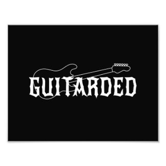 Guitarded Photo Print