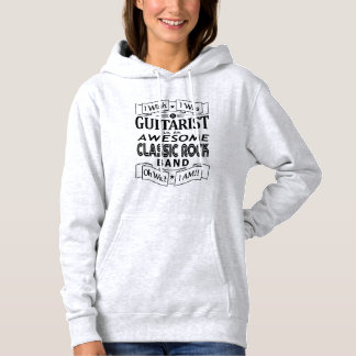GUITARIST awesome classic rock band (blk) Hoodie