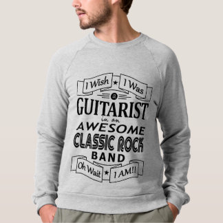 GUITARIST awesome classic rock band (blk) Sweatshirt