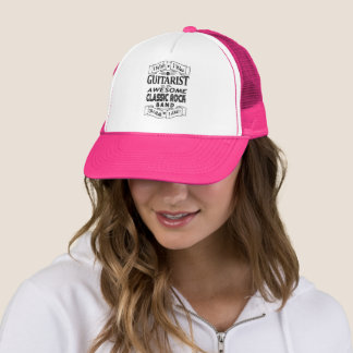 GUITARIST awesome classic rock band (blk) Trucker Hat