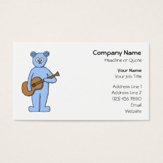 Guitarist Bear. Business Card