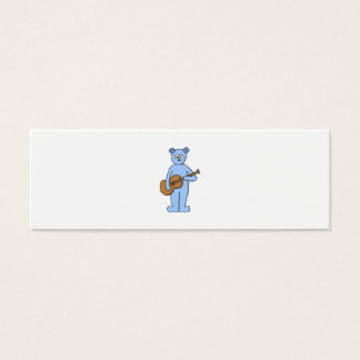 Guitarist Bear. Mini Business Card
