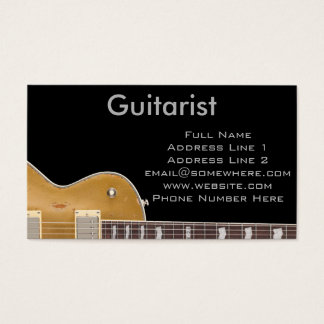 Guitarist Business Card