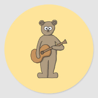 Guitarist. Classic Round Sticker