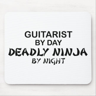 Guitarist Deadly Ninja by Night Mouse Pad