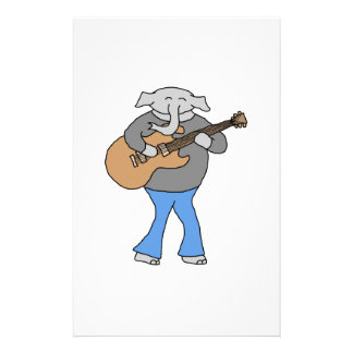 Guitarist. Elephant Playing Electric Guitar. Flyer