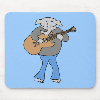 Guitarist. Elephant Playing Electric Guitar. Mouse Pad