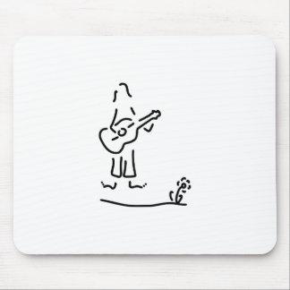 guitarist flower power mouse pad