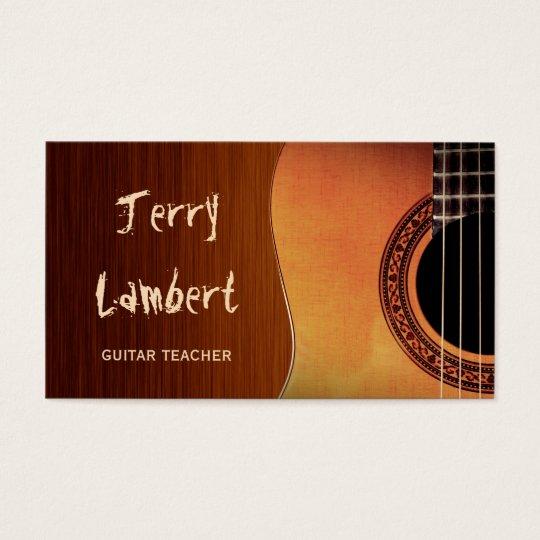 Guitarist Guitar Player Teacher Stylish Wood Look Business