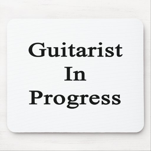 Guitarist In Progress Mouse Pad