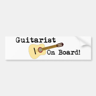 Guitarist on Board -- Acoustic Bumper Stickers