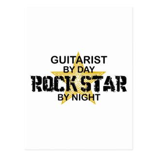 Guitarist Rock Star by Night Postcard
