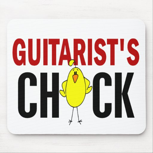 Guitarist's Chick 1 Mouse Pad
