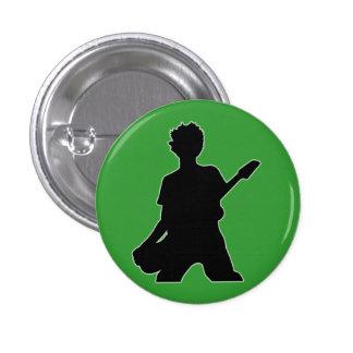 Guitarist Silhouette - B&W Pinback Button