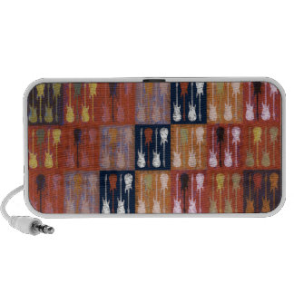 Guitars Abstract Collage Travel Speaker