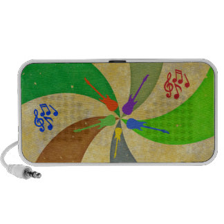 Guitars and Notes Abstract Travel Speaker