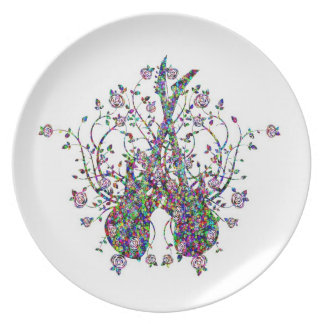 Guitars And Roses  Melamine Plate #2