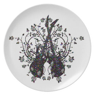 Guitars And Roses  Melamine Plate #5