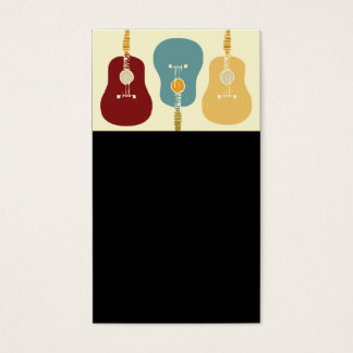 Guitars Business Cards - Black