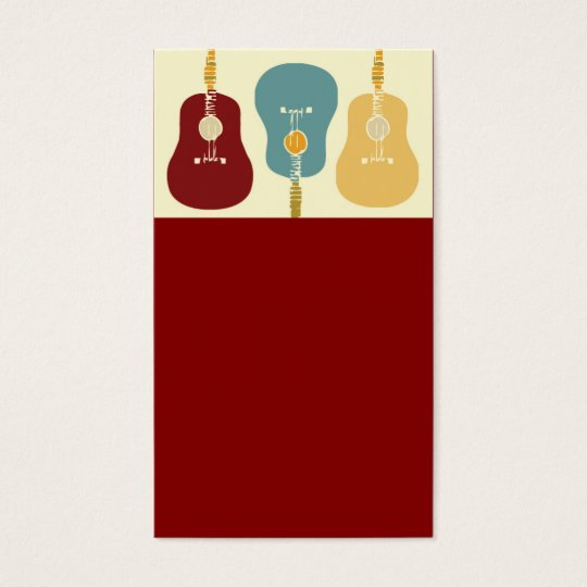 Guitars Business Cards - Red