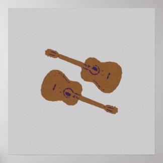 guitars for walls, musics poster
