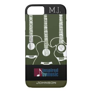 guitars music-inspired graphic iPhone 7 case