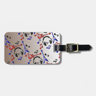 Guitars Music Theme Patterned iPhone Cases Luggage Tag