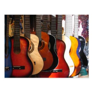 Guitars Postcard